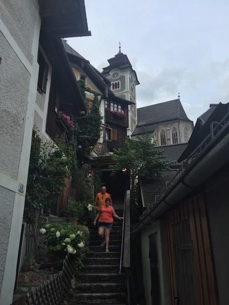 """Oh Hallstatt, you take my breath away, with all these stairs I need to climb."""