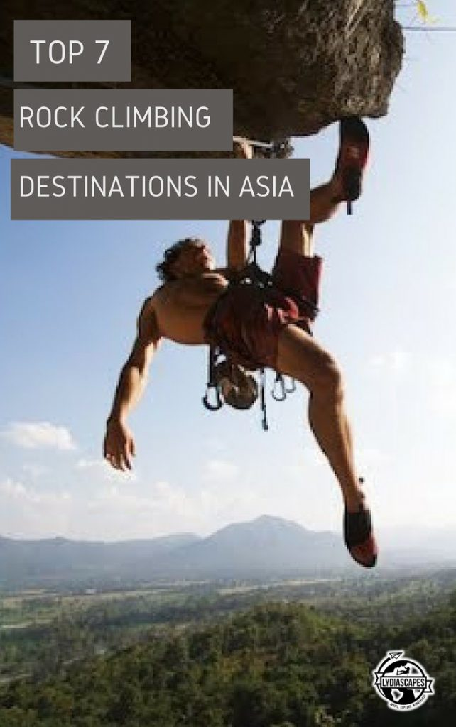 Top rock climbing destinations in Asia