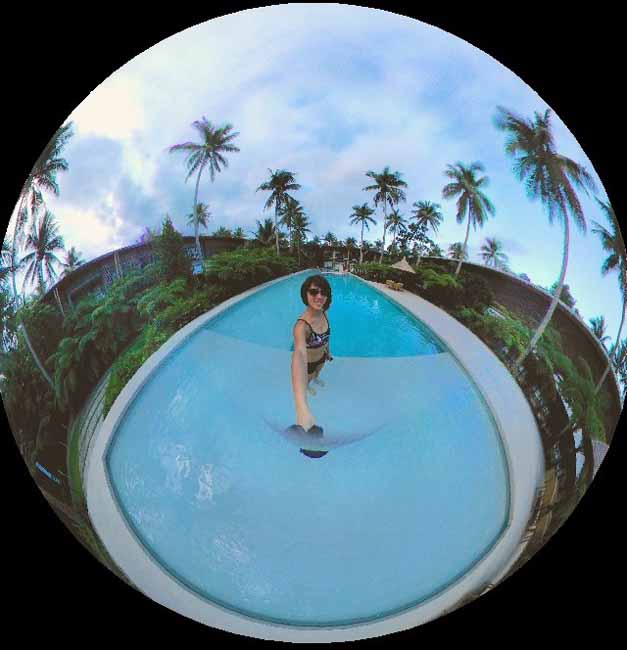 360 shot of the pool at Siama Hotel | Bicol Philippines Resorts