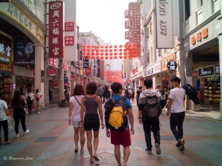 walkabout guangzhou shopping district   | Shopping time between the rock climbing activities in Yangshuo