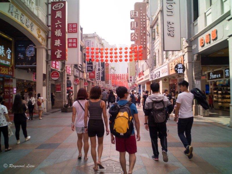 walkabout guangzhou shopping district   | Shopping time between the rock climbing activities in Yangshuo