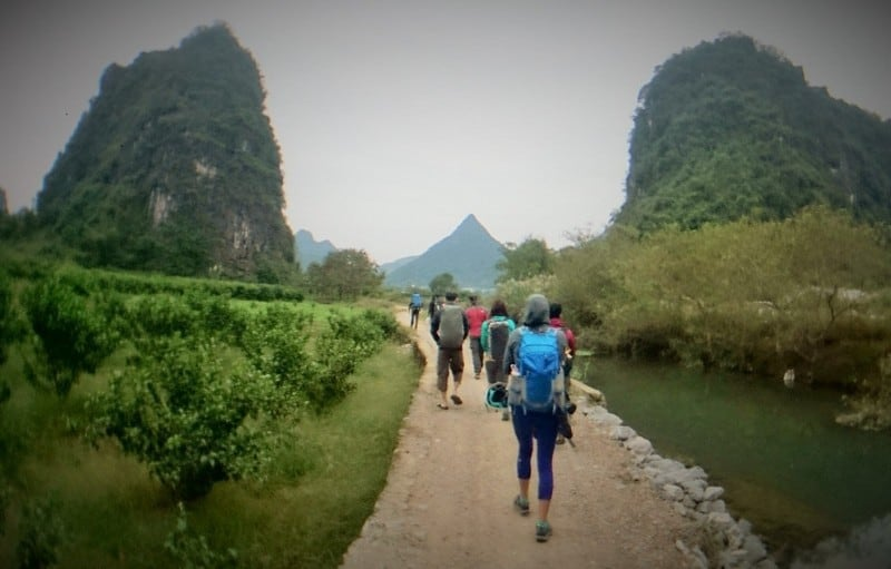 Hiking into White Mountain climbing area  | Rock Climbing Asia and China