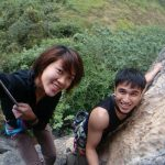 At the top of the route at White Mountain | rock climbing asia and china