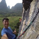 Wefie on the go | Yangshuo Climbing