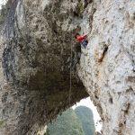 Natural rock climbing in Yangshuo