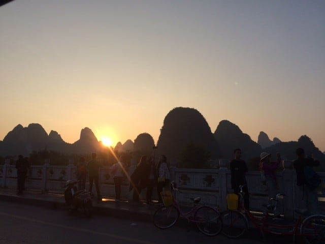 Sunset at Yangshuo | Natural Rock Climbing Asia and China