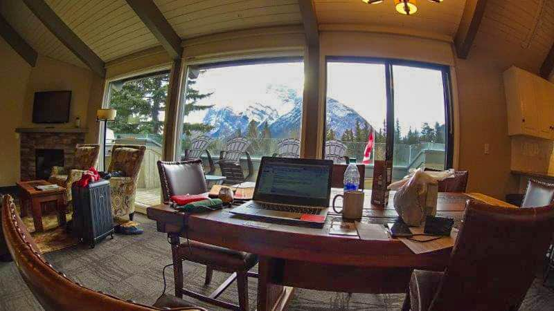 Working at Banff with a view like that | canada winter outdoor adventures to do