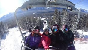 Chairlift up before the big ski down
