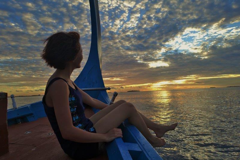 sunset maldives travel blog