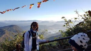 Climbing Adam's Peak and the sunrise view from the temple top
