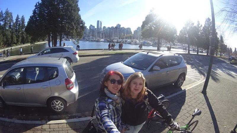 cycling and hiking with my Belgium buddy in Vancouver