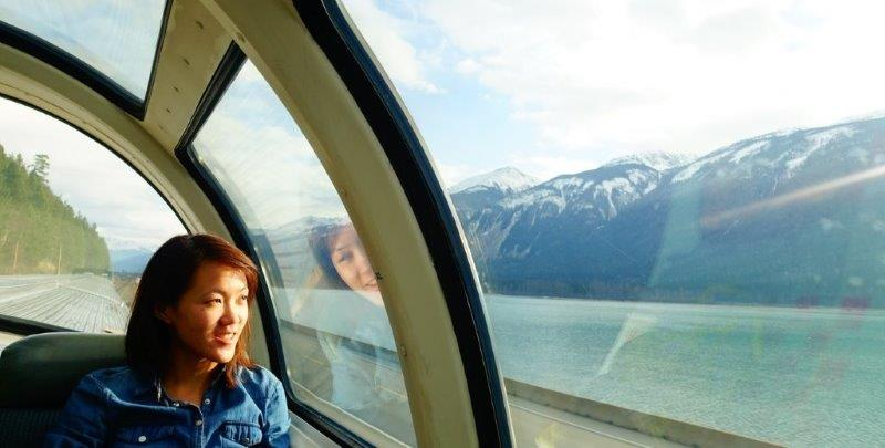 My Train Rail trip in Canada from Vancouver to Edmonton in 2015