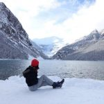 enjoying the lake louise view