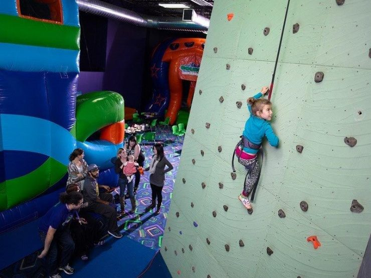 Get the best climbing holds for your  kids. Photo credited to rockclimbinggym.net