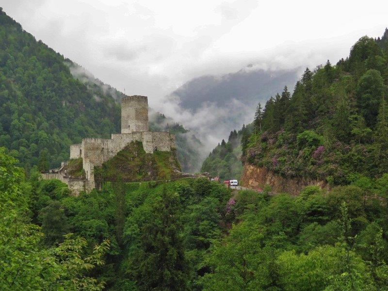 The Castle on a hill - The Black Sea Region of Turkey - Rize Kalesi