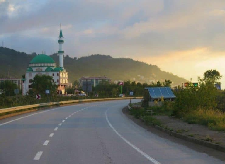 Going towards Samsun with the sunset - The Black Sea Region of Turkey