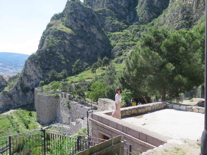 Welcome to Amasya the pretty town with mountain rock tombs carvings and statues