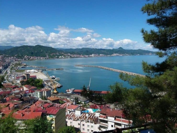 Look out point at the top of the hill at Giresun