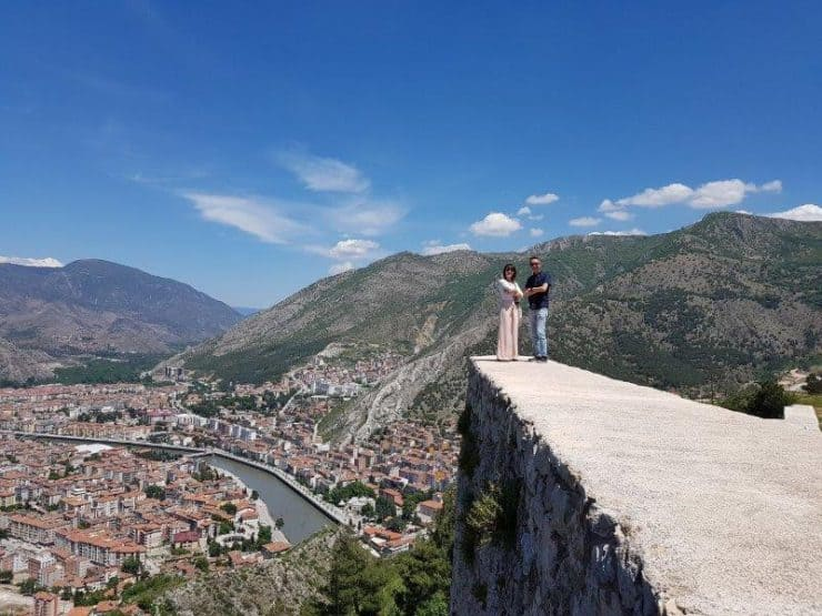 Lookout point at the top of the hill at Amasya