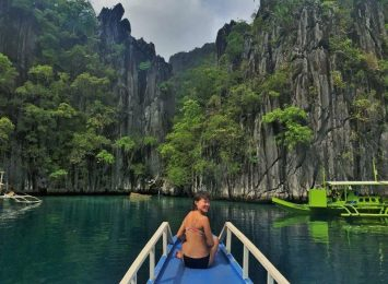 Entering the Twin lagoon premise - diving and snorkeling in palawan
