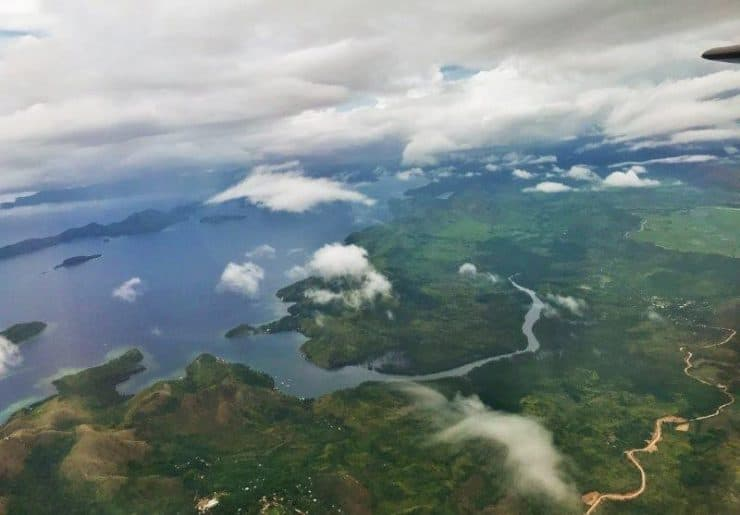 The view of Coron from the window seat in Cebu Pacific Airlines.  | Travel to Coron