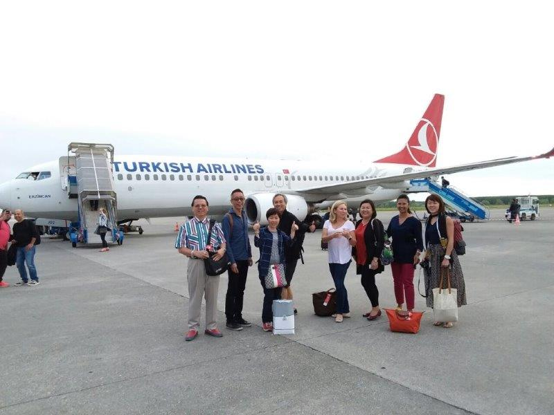 All landed safely in Batumi Airport via Turkish Airlines