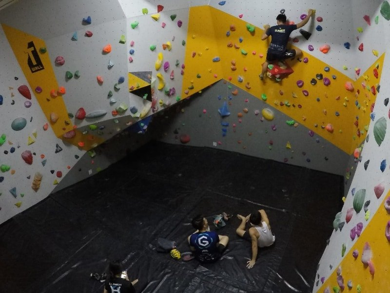 Climbers having fun at Climbers Lab