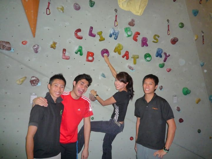 Climbers having fun at Climbers Lab - Photo credited to Jovan Hsieh