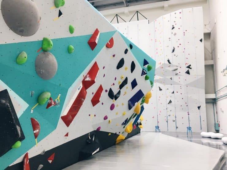 Gorilla Climbing Gym - Brand new spanking whitewash walls