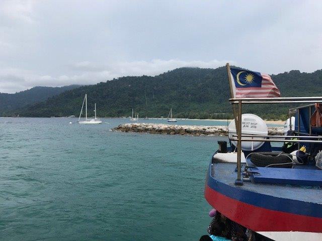 Disembarking the ferry that brought us to Tioman