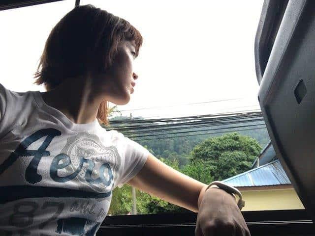 On board the hotel shuttle bus onwards to Berjaya Tioman Resort, taking in the sun and breeze