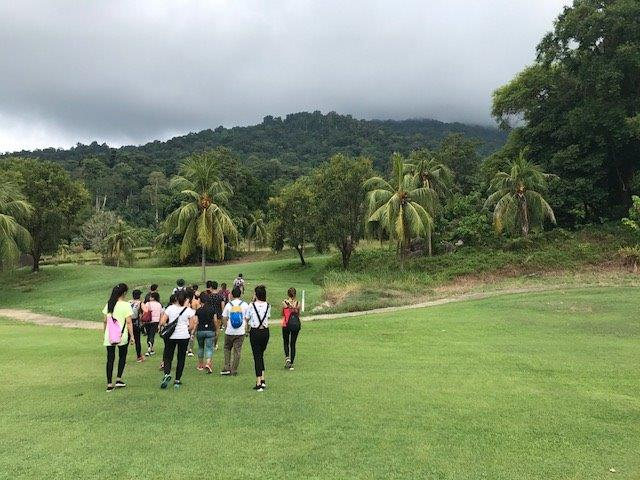 The start of our hike up to the waterfall | Resort in Jungle Malaysia