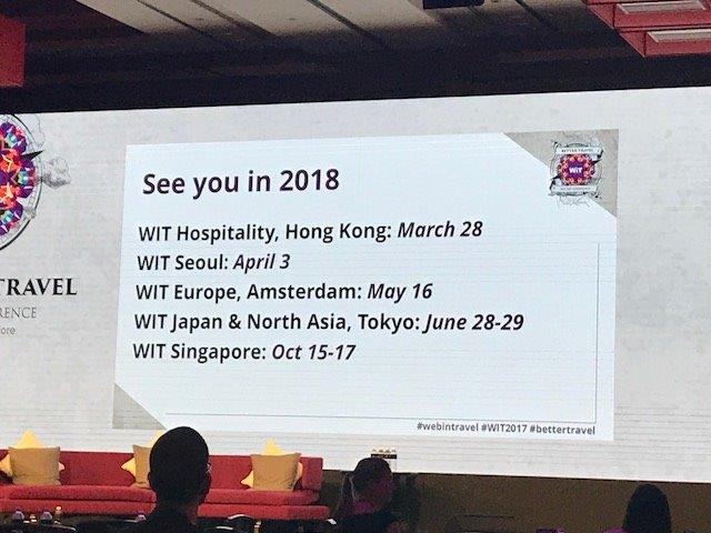 2018 Web In Travel Dates WIT Digital Marketing and Travel Conference