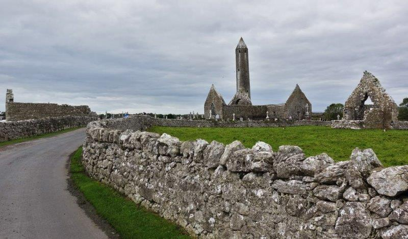 Ireland coach tours of Cliffs of Moher and Kilmacduagh Monastery | This protected and beautifully remote area housed the 12th century round tower and an abundance of 11th to 13th century ruins