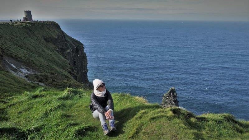 Cliffs of Moher, enjoyed best with sunshine and a good pair of north face hiking shoes