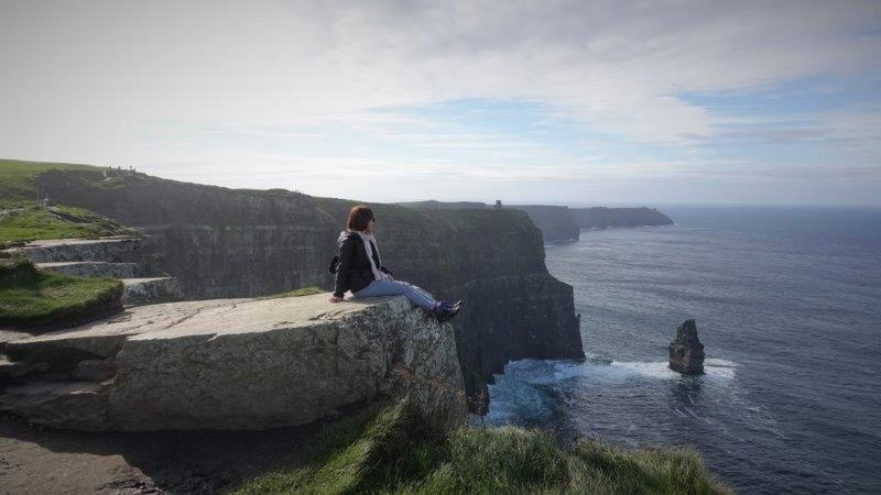 Endless cliffs here at - The Cliffs of Moher