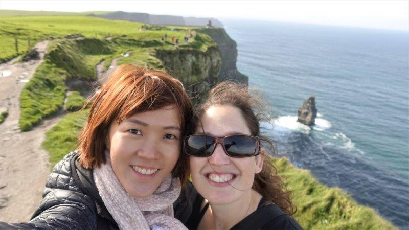 Met a lovely new friend from Israel called Anat. She was travelling solo around Ireland and actually drove all the way to the cliffs of moher herself. Such a brave and lovely lady, if I had more time, I would love to ditch my tour and just follow her around!;)