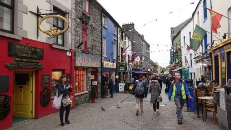 Walking through the streets of Galway