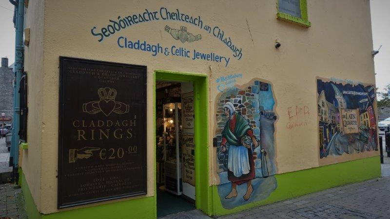 Paintings on the wall - Celtic designs and words