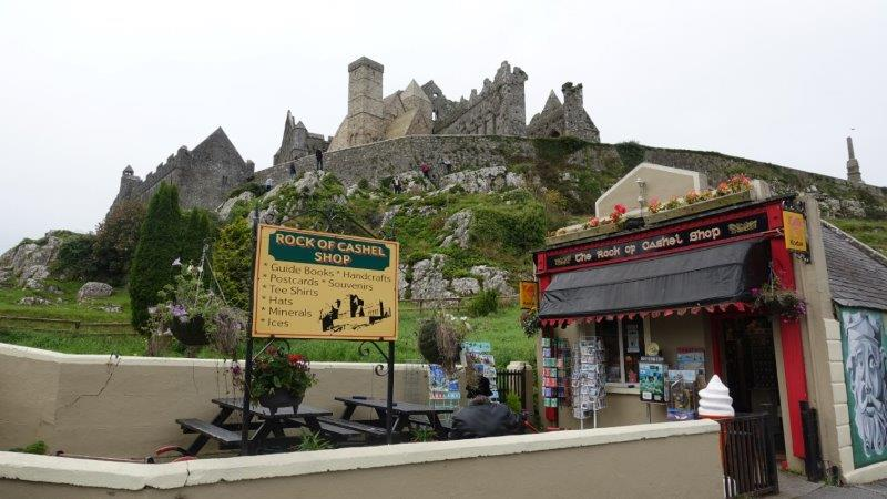 Little Rock of Cashel souvenir shop at the bottom of the hill.