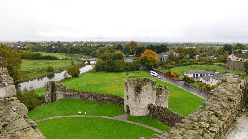 View from the top at Trim Castle