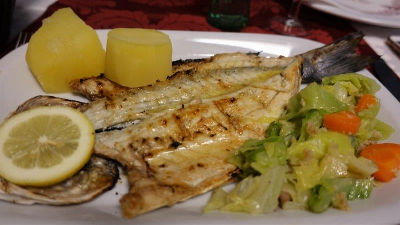 Grilled Fish with Lemon. Simple but so good. Warning, watch out for bones and scales if you are only use to eating boneless fillet fish. One of the best seafood restaurants in Lisbon?