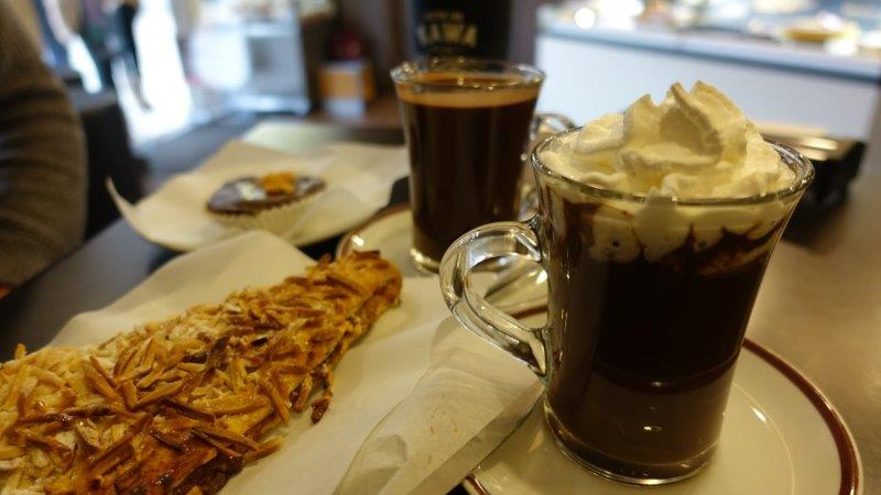 Hot Chocolate and Snacks at Cafe | Hot chocolate in Portugal