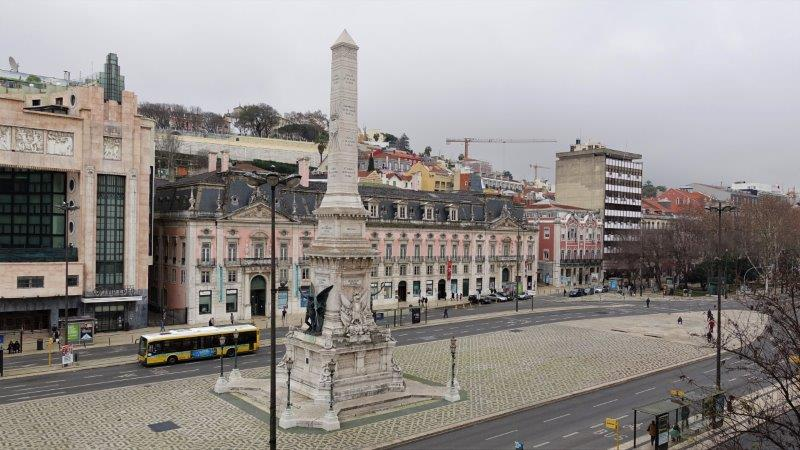 View of the square from Good Morning Hostel