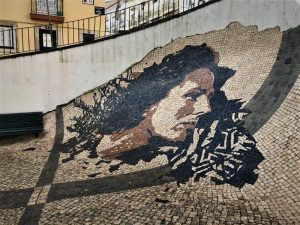 The famous female fado music singer of Lisbon, a special artpiece done in commemoration of her