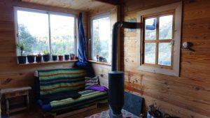 Cosy corner in the cabin of Climbing Siurana