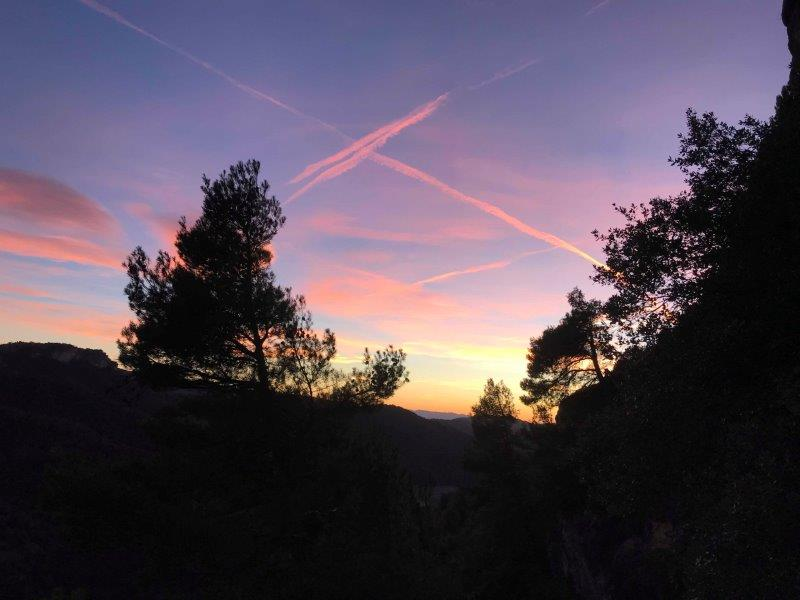Stunning sunset view in Siurana after completing my last route of the day| Cornudella de Montsant