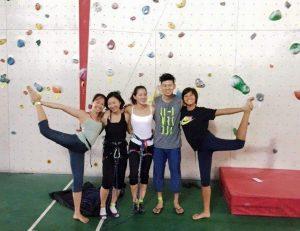 Climbers and Yoga