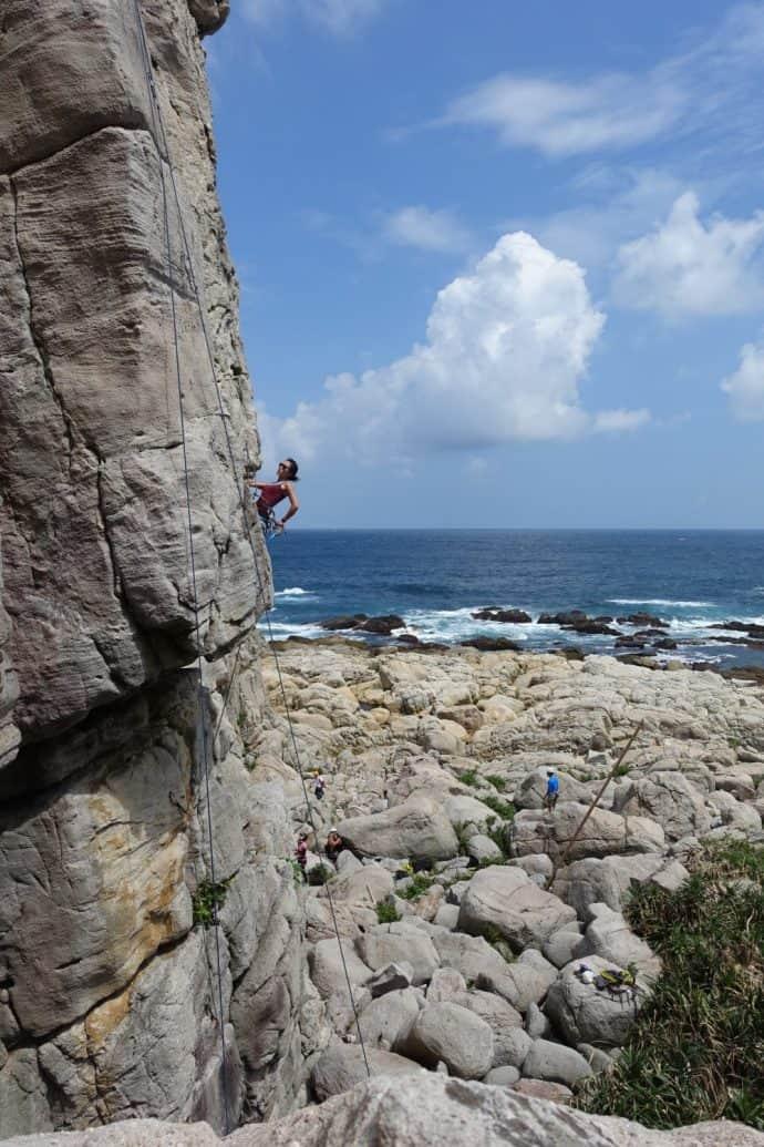 Climb by the Coast | Longdong Rock Climbing