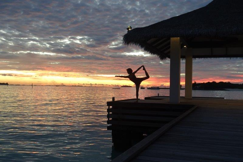 Dancer Pose Maldives
